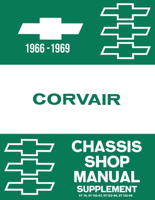 1966-1969 chevrolet corvair chassis shop manual supplement (licensed  factory reprint)