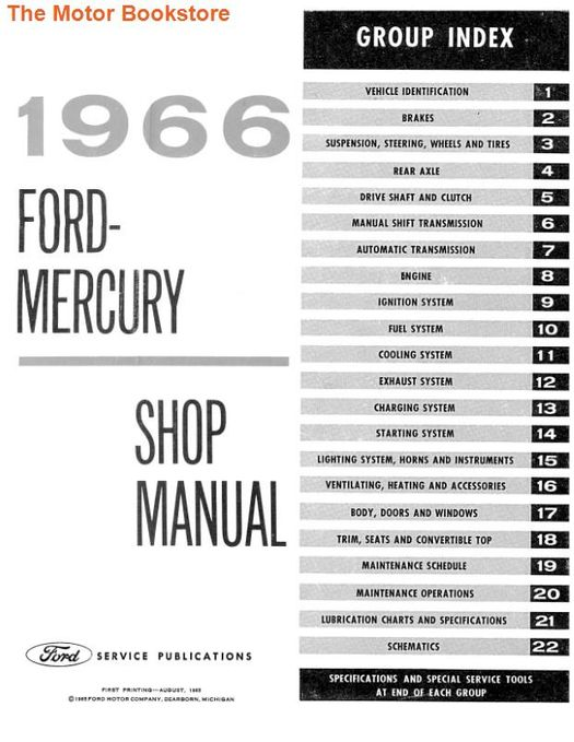 1966 Ford and Mercury Factory Shop Manual