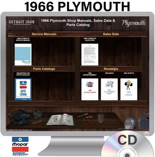 1966 Plymouth OEM Manuals - CD