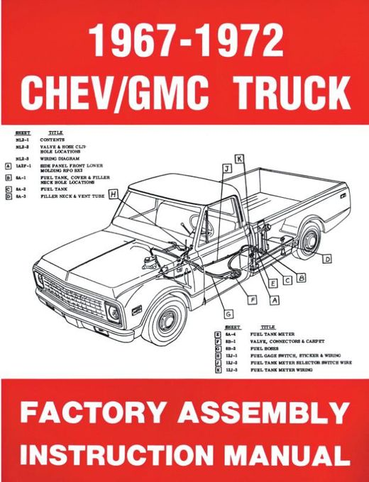 1967 1972 Chevrolet Gmc Truck Factory Assembly Manual