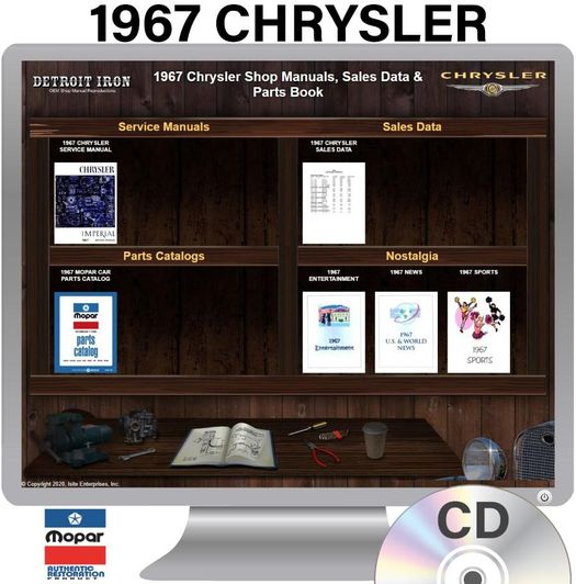 1967 Chrysler OEM Manuals - CD