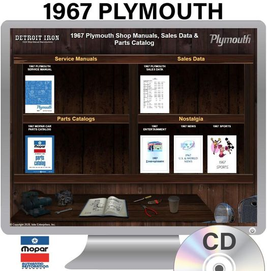 1967 Plymouth OEM Manuals - CD
