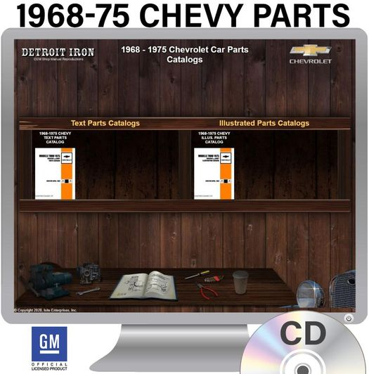 1968-1975 Chevy Parts OEM Manuals - CD