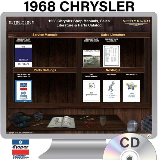 1968 Chrysler OEM Manuals - CD