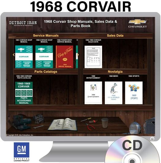 1968 Corvair OEM Manuals - CD