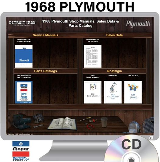 1968 Plymouth OEM Manuals - CD