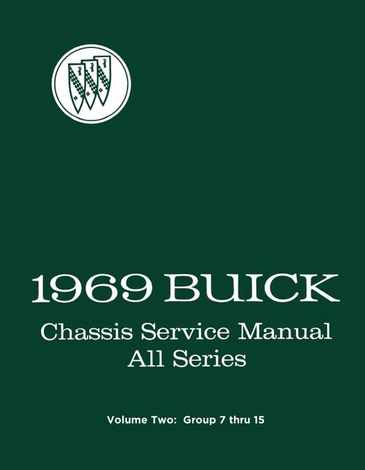 1969 Buick Chassis Service Manual - All Series