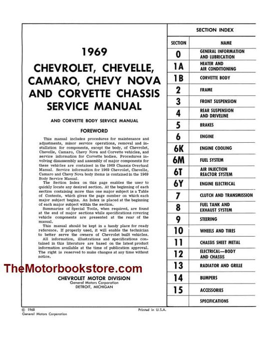 1969 Chevrolet Chassis Service Manual