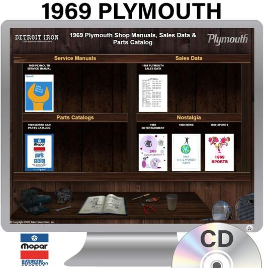 1969 Plymouth OEM Manuals - CD