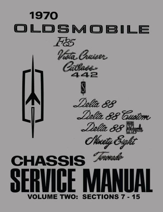 1970 Oldsmobile Chassis Service Manual