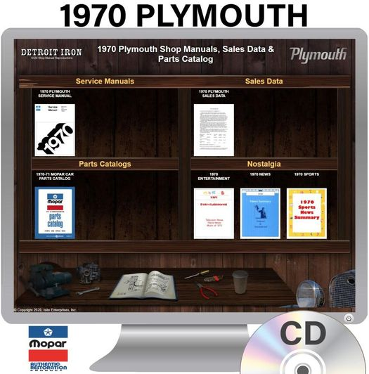 1970 Plymouth OEM Manuals - CD