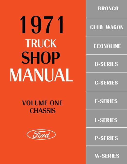 1971 f100 wiring diagram factory 1971 ford truck factory shop manual f series  bronco  econoline  1971 ford truck factory shop manual f