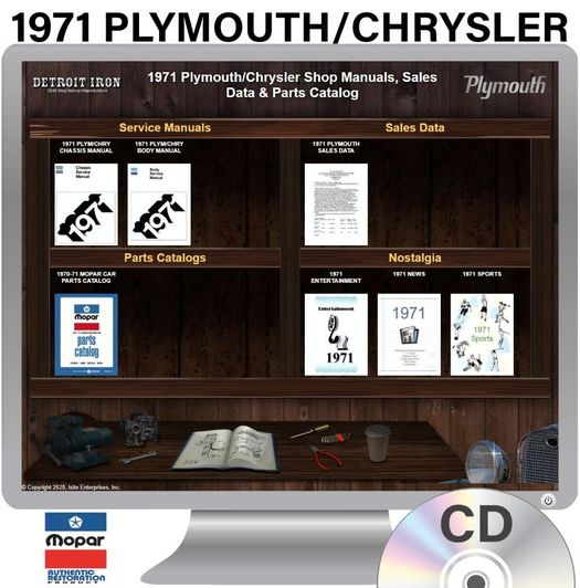 1971 Plymouth / Chrysler� OEM Manuals - CD