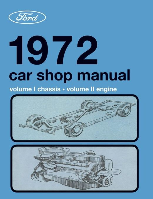 1972 Ford, Lincoln, Mercury Factory Car Shop Manual (5-Volume Set)