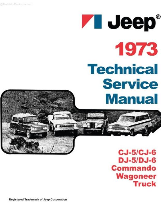 1973 Jeep Shop Manual Fold Service Wiring Diagram on