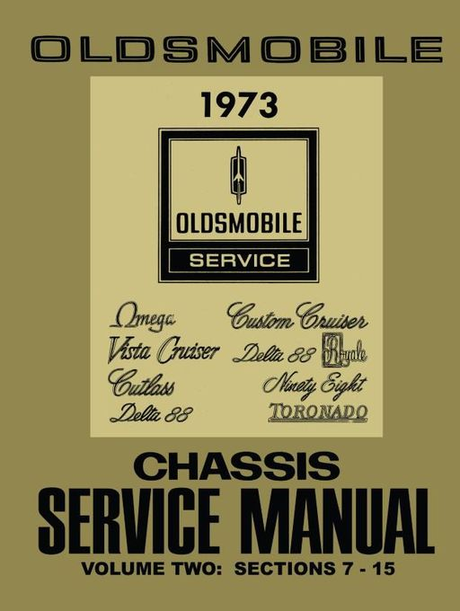1973 Oldsmobile Chassis Service Manual