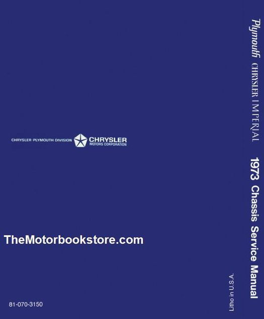 1973 Plymouth, Chrysler, Imperial Body Service Manual