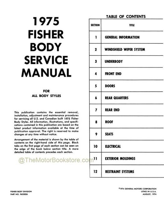 1975 Fisher Body Service Manual