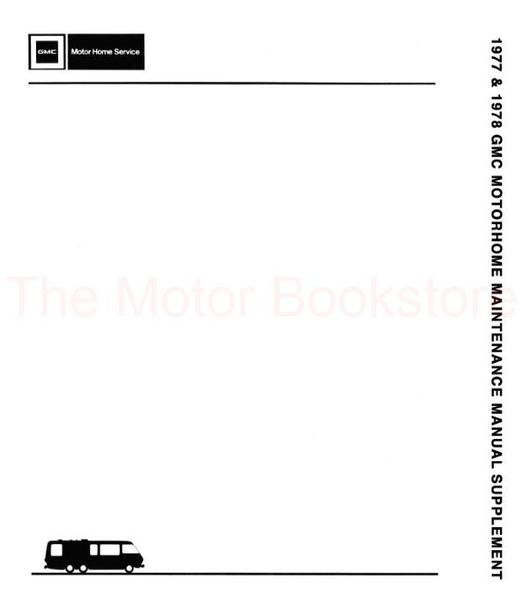 1977-1978 GMC Motorhome Shop Manual Supplement