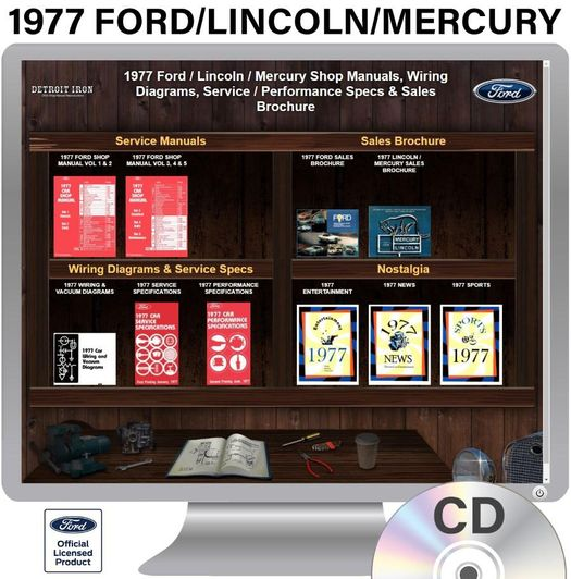 1977 Ford    Lincoln    Mercury Factory Oem Shop Manuals On