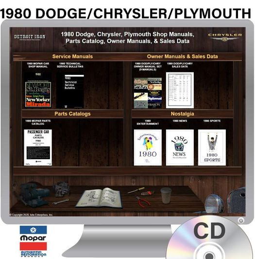 1980 Dodge / Chrysler / Plymouth OEM Manuals - CD