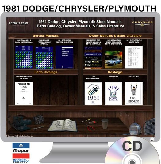 1981 Dodge / Chrysler / Plymouth OEM Manuals - CD