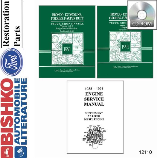 1991 Ford Truck OEM Service Manual on CD-ROM
