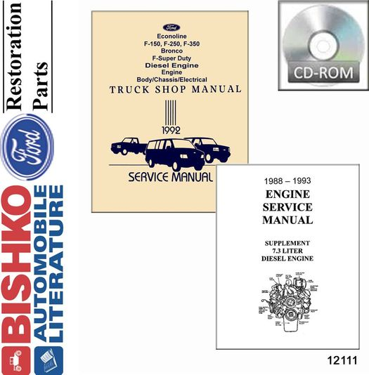 1992 Ford Truck OEM Service Manual on CD-ROM