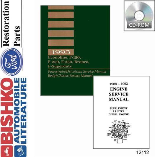 1993 Ford Truck OEM Service Manual on CD-ROM