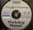 2001 Ford Super Duty OEM Service Manual on CD-ROM