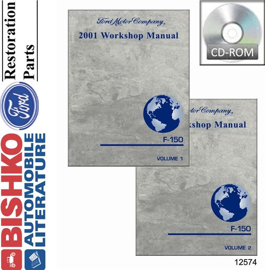 2001 Ford Truck OEM Service Manual on CD-ROM