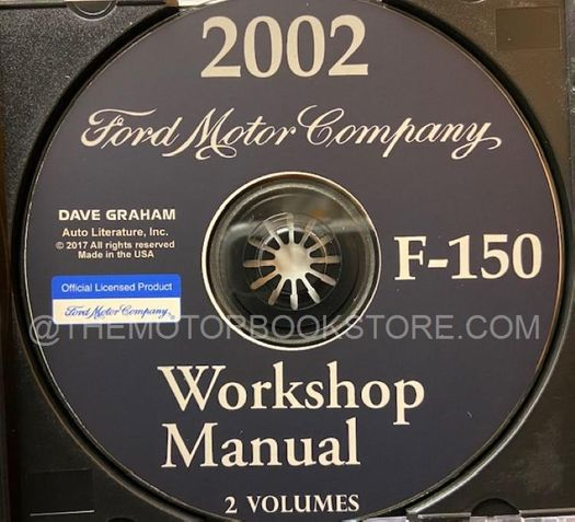 2002 Ford F-150 OEM Service Manual on CD-ROM
