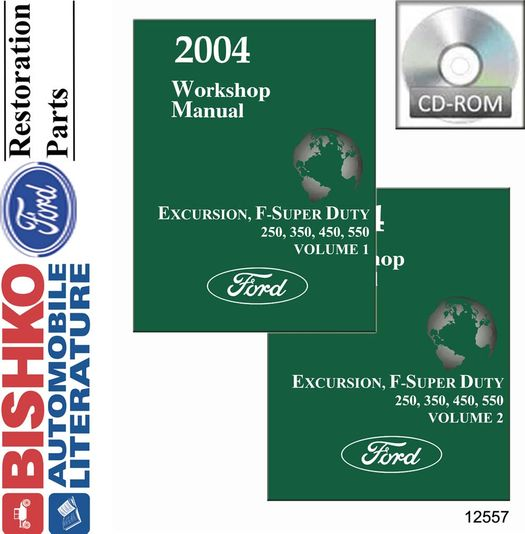2004 Ford Excursion, F-Super OEM Service Manual on CD-ROM