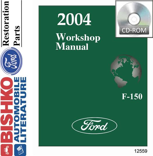 2004 Ford F-150 OEM Service Manual on CD-ROM