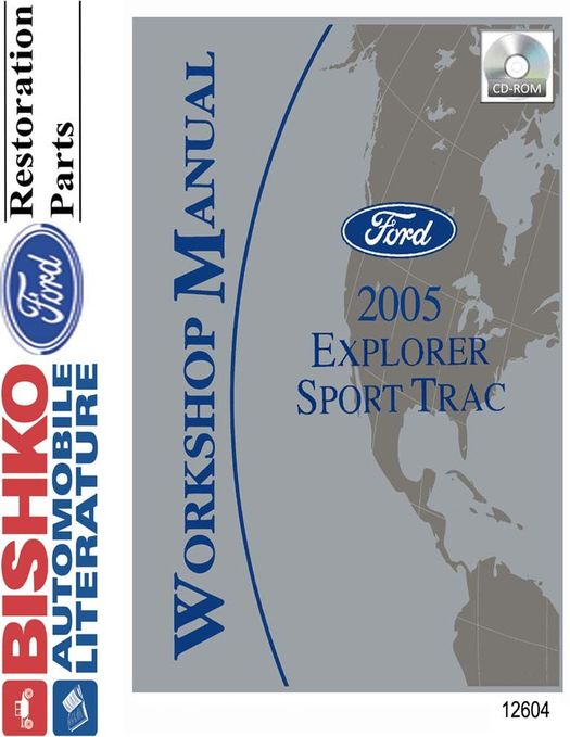 2005 Ford Explorer Sport Trac OEM Service Manual on CD-ROM