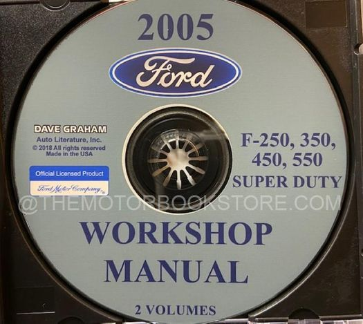 2005 Ford Super Duty OEM Service Manual on CD-ROM
