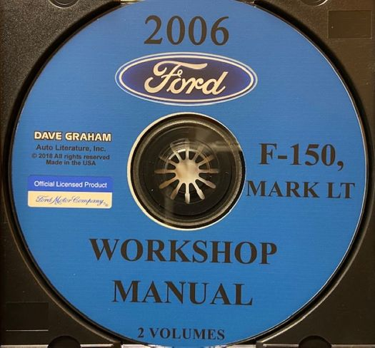 2006 Ford Truck OEM Service Manual on CD-ROM