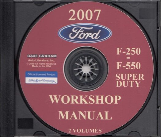 2007 Ford Truck OEM Service Manual on CD-ROM