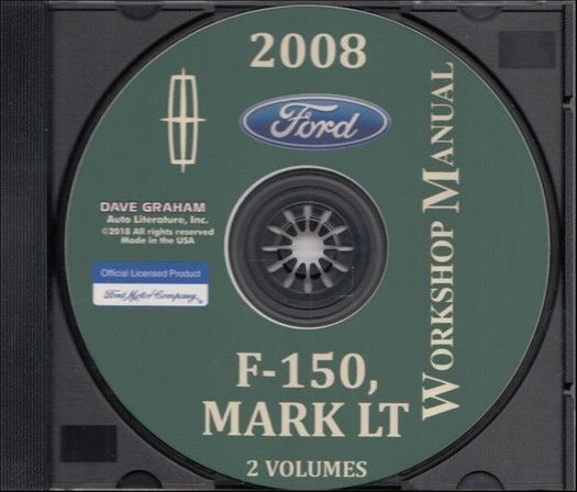 2008 Ford Truck Workshop Manual on CD-ROM