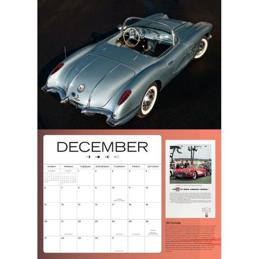 Art Of The Corvette 2020 Wall Calendar