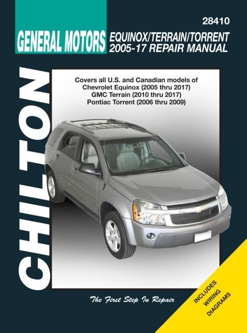 chevrolet equinox, gmc terrain, pontiac torrent repair manual 2005-2017