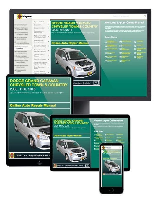 CHRYSLER TOWN /& COUNTRY DODGE GRAND CARAVAN REPAIR MANUAL VAN CHILTON 2008-2012