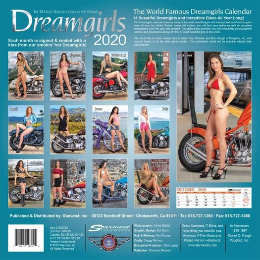 Dreamgirls 2020 Calendar