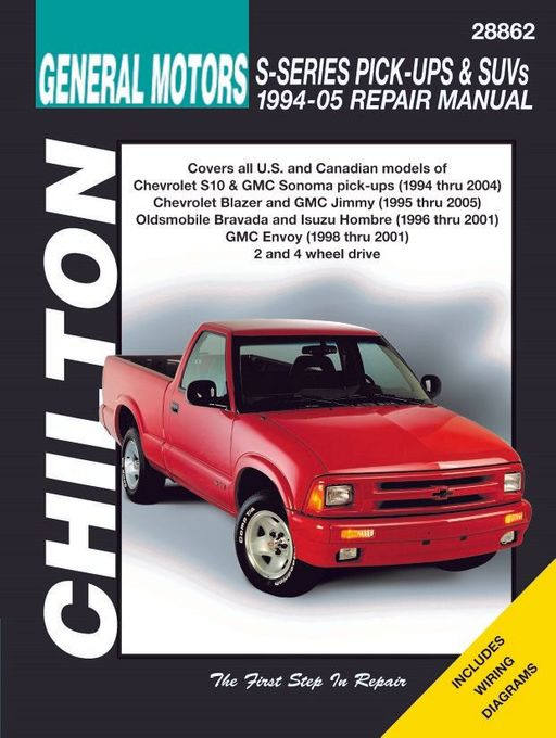 Repair manual Chevy S10, Blazer, GMC Sonoma, Envoy, Jimmy, etc. on 2000 s10 volvo, 2000 s10 headlights, 2000 s10 flywheel, 2000 s10 body, 2000 s10 door, 2000 s10 radio, 2000 s10 ignition, s10 engine diagram, 2000 s10 abs wiring, 2000 s10 seats, 2000 s10 dash vents, 2000 s10 dash wiring, 2000 s10 manual, 2002 pontiac sunfire radiator hose diagram, 2000 s10 alternator wiring, 2000 s10 thermostat, 2000 s10 brake system, 2000 s10 firing order, 2000 s10 hose, 2000 s10 horn,
