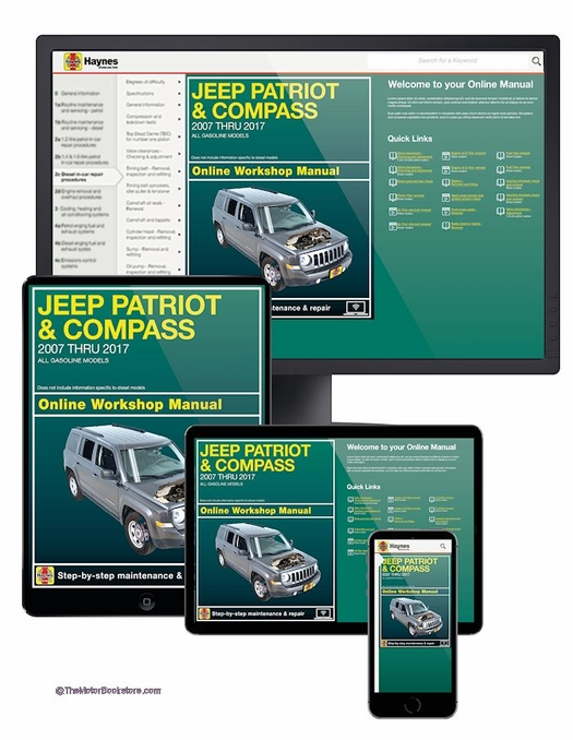 Jeep Patriot / Compass Repair Manual: 2007-2017 - 1yr ONLINE