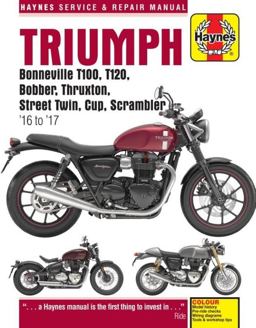 Triumph Bonneville / Bobber Repair Manual 2016-2017