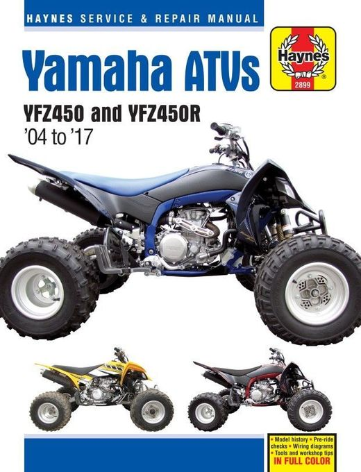 yamaha yfz450, yfz450r atv repair manual 2004-2017