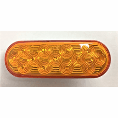 "6.5"" OVAL AMBER LED STROBE LIGHT LIGHT"