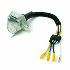 7-ROUND & 7-BLADE CONNECTOR KITS, PREWIRED FOR 4-FLAT