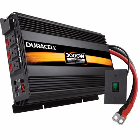 DURACELL HIGH POWER INVERTER 3000 W/REMOTE SWITCH